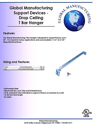 Support Devices - Drop Ceiling T Bar Han