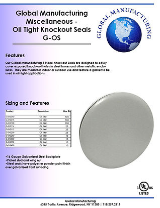 Miscellaneous - Oil Tight Knockout Seals
