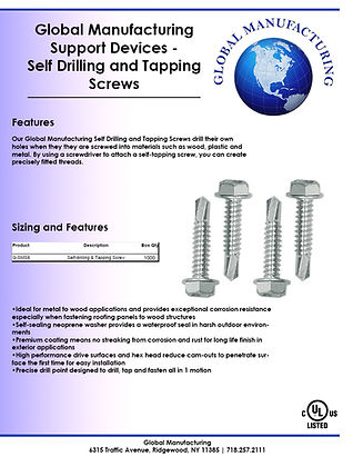 Support Devices - Self Tapping Screws.jp