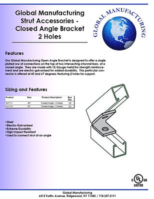 Strut Accessories - Closed Angle Bracket