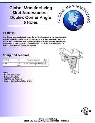 Strut Accessories - Duplex Corner Angle