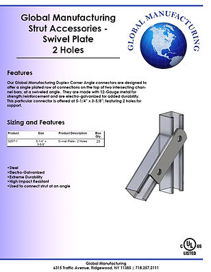 Strut Accessories - Swivel Plate 2 Holes