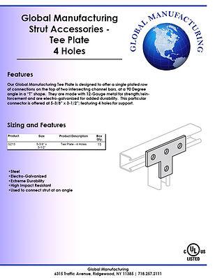 Strut Accessories - Tee Plate 4 Holes.jp