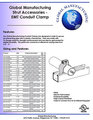 Strut Accessories - EMT Conduit Clamp.jp