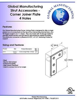 Strut Accessories - Corner Joiner Plate