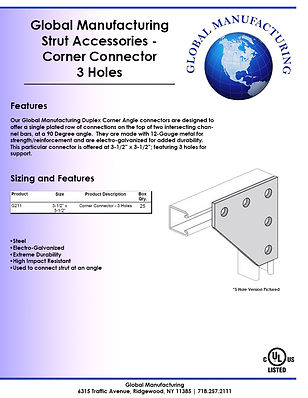 Strut Accessories - Corner Connector 3 H