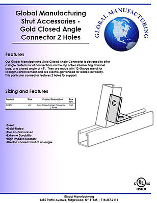 Strut Accessories - Gold Closed Angle Co