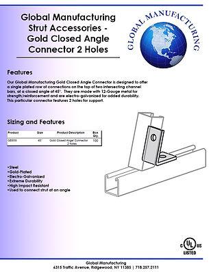 Strut Accessories - Gold Closed Angle Co