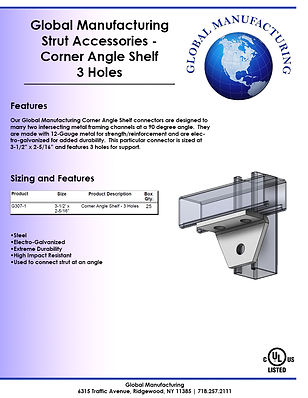 Strut Accessories - Corner Angle Shelf 3