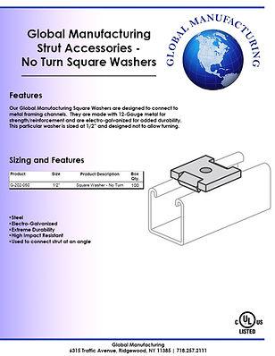 Strut Accessories - No Turn Square Washe