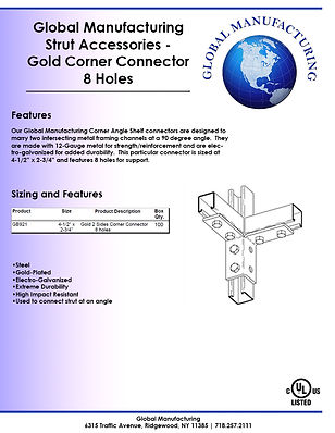 Strut Accessories - Gold Corner Connecto