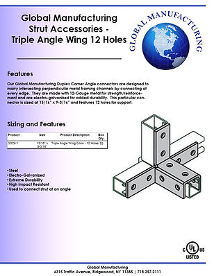 Strut Accessories - Triple Angle Wing 12