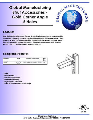 Strut Accessories - Gold Corner Angle 5