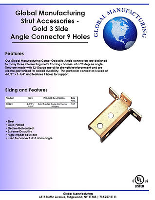 Strut Accessories - Gold 3 Side Angle Co