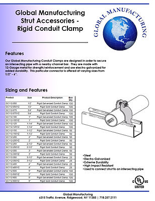 Strut Accessories - Rigid Conduit Clamp.