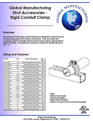 Strut Accessories - Rigid Conduit Clamp.