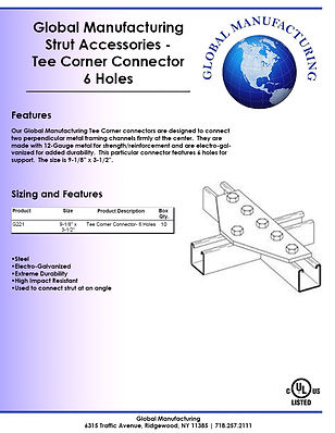 Strut Accessories - Tee Corner Connector