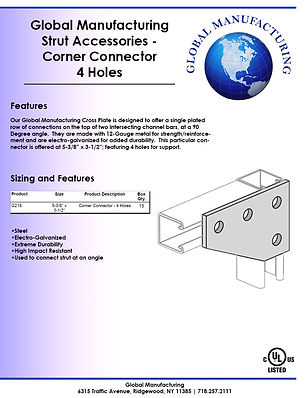 Strut Accessories - Corner Connector 4 H