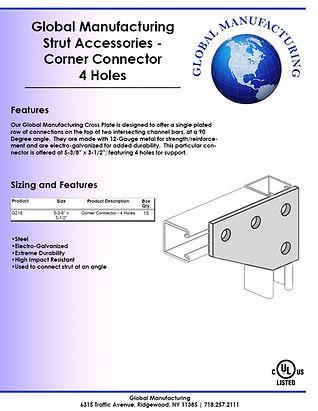 Strut Accessories - Corner Connector 4 H