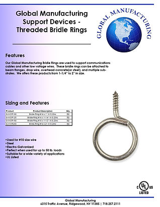 Support Devices - Threaded Bridle Rings.