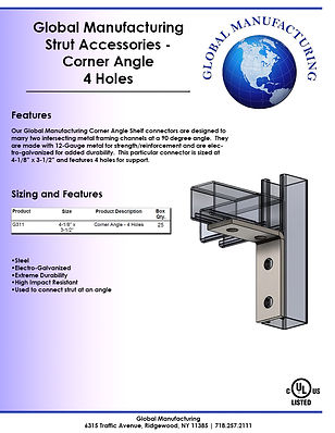 Strut Accessories - Corner Angle 4 Holes