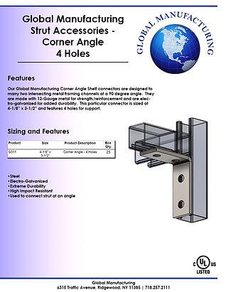 Strut Accessories - Corner Angle 4 Holes
