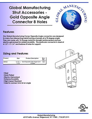 Strut Accessories - Gold Opposite Angle