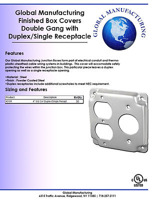 Finished Box Covers Double Gang with Dup