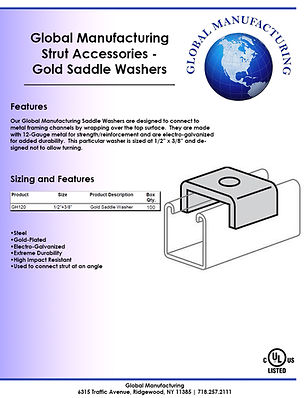 Strut Accessories - Gold Saddle Washers.