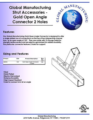 Strut Accessories - Gold Open Angle Conn