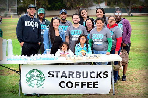 Starbucks volunteers