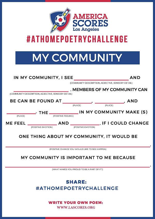 #AtHomePoetryChallenge