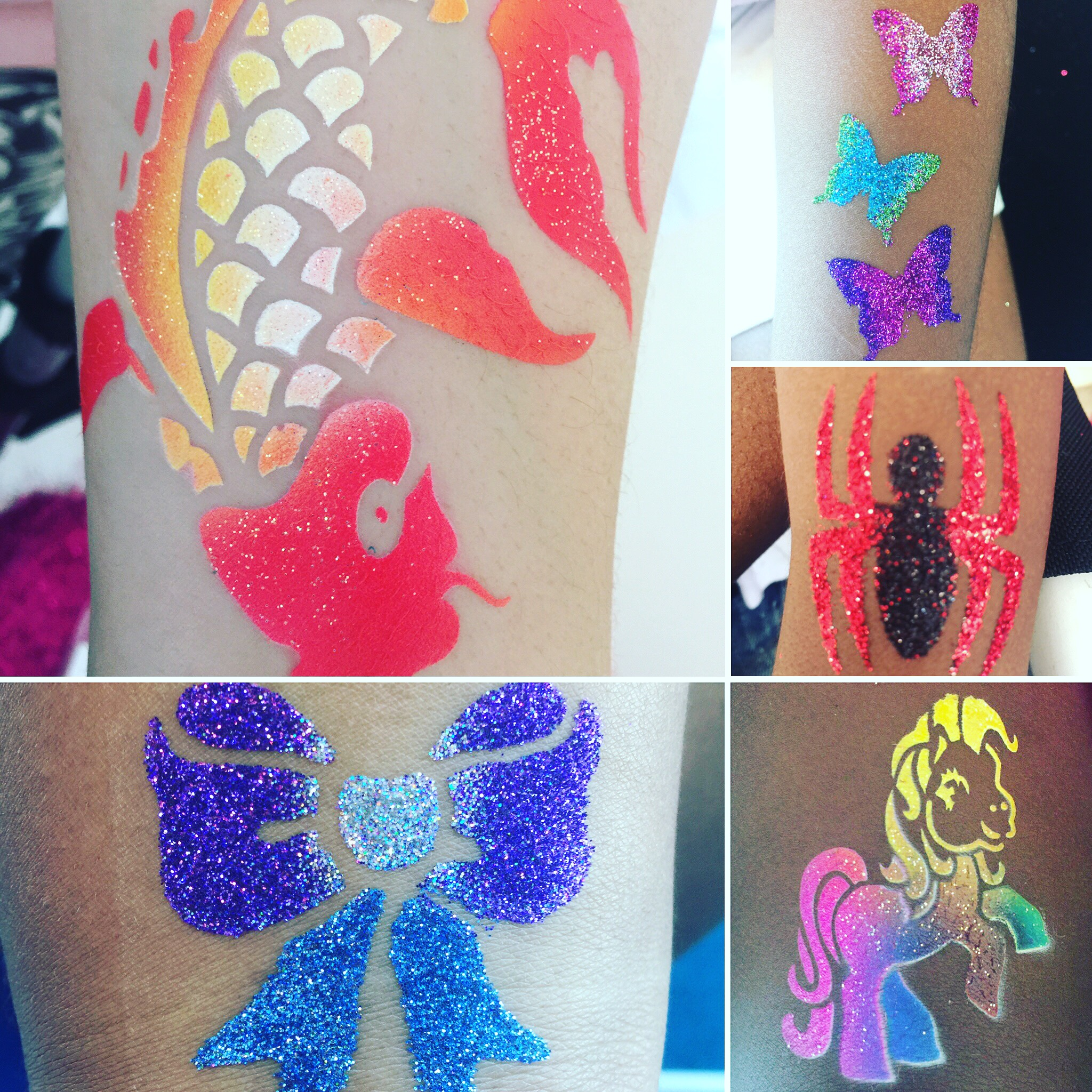 Glitter tattoos, AirBrush Tattoos, m