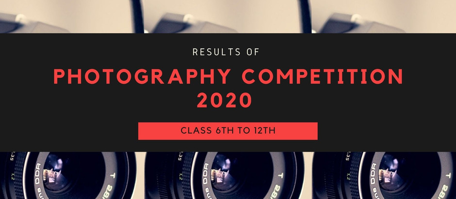Photography Contest 2020 Results