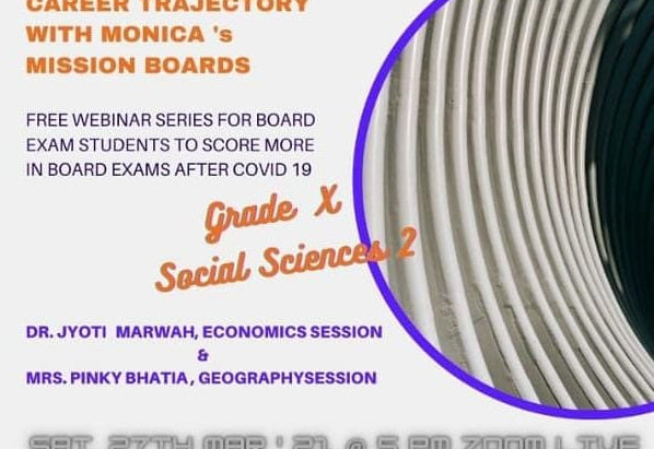 GRADE X SOCIAL SCIENCES  Webinar at No Registration Charges On 27th March' 21 Zoom live Session @5pm