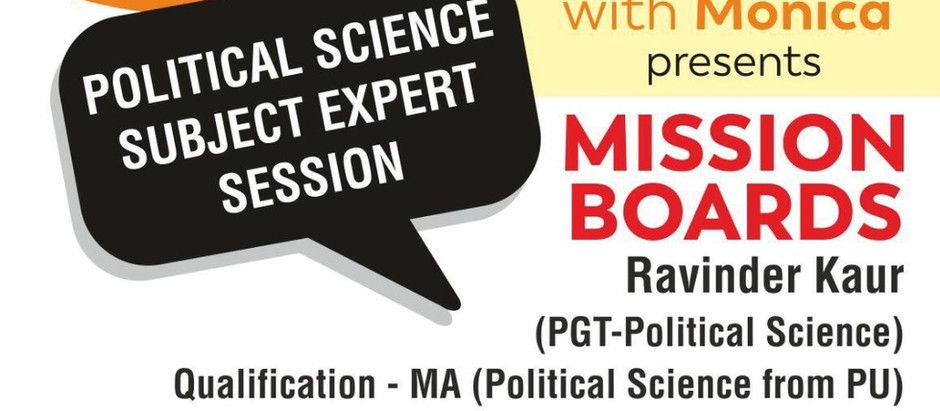 Are you studying Humanities? Have you Opted for Political Sciences as your Subject Choice?