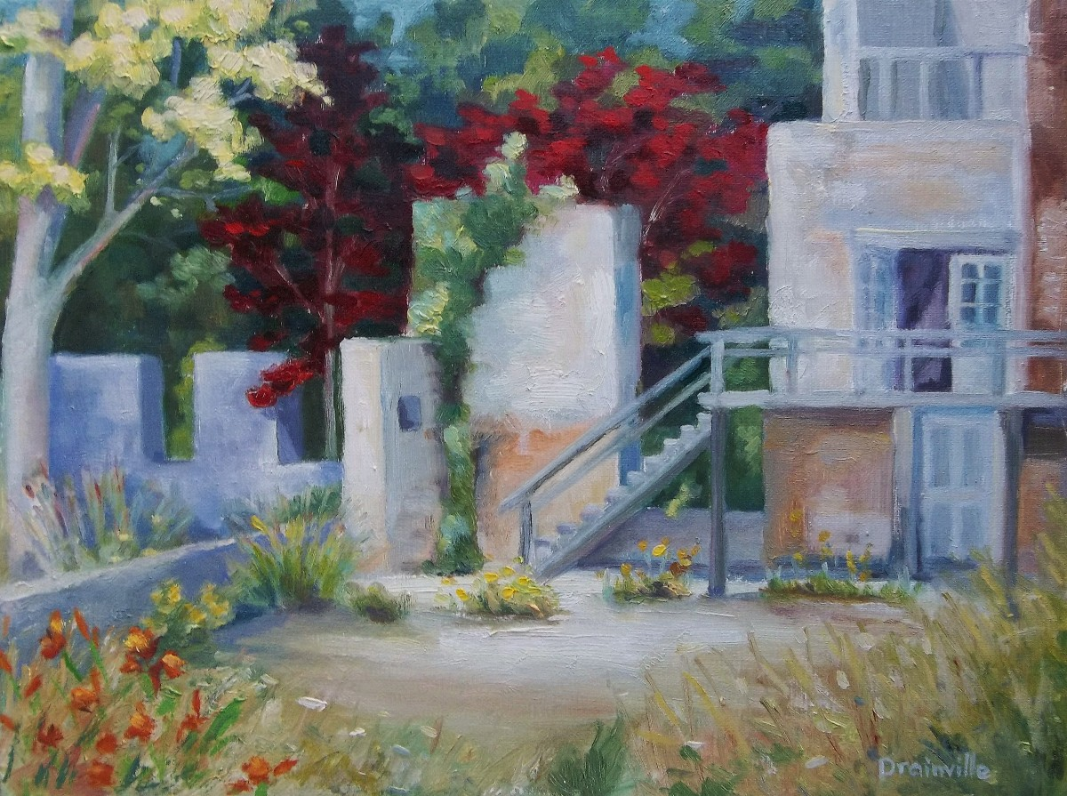 Drainville B, #4, Carolina Mill Revisited, 9x12, oil
