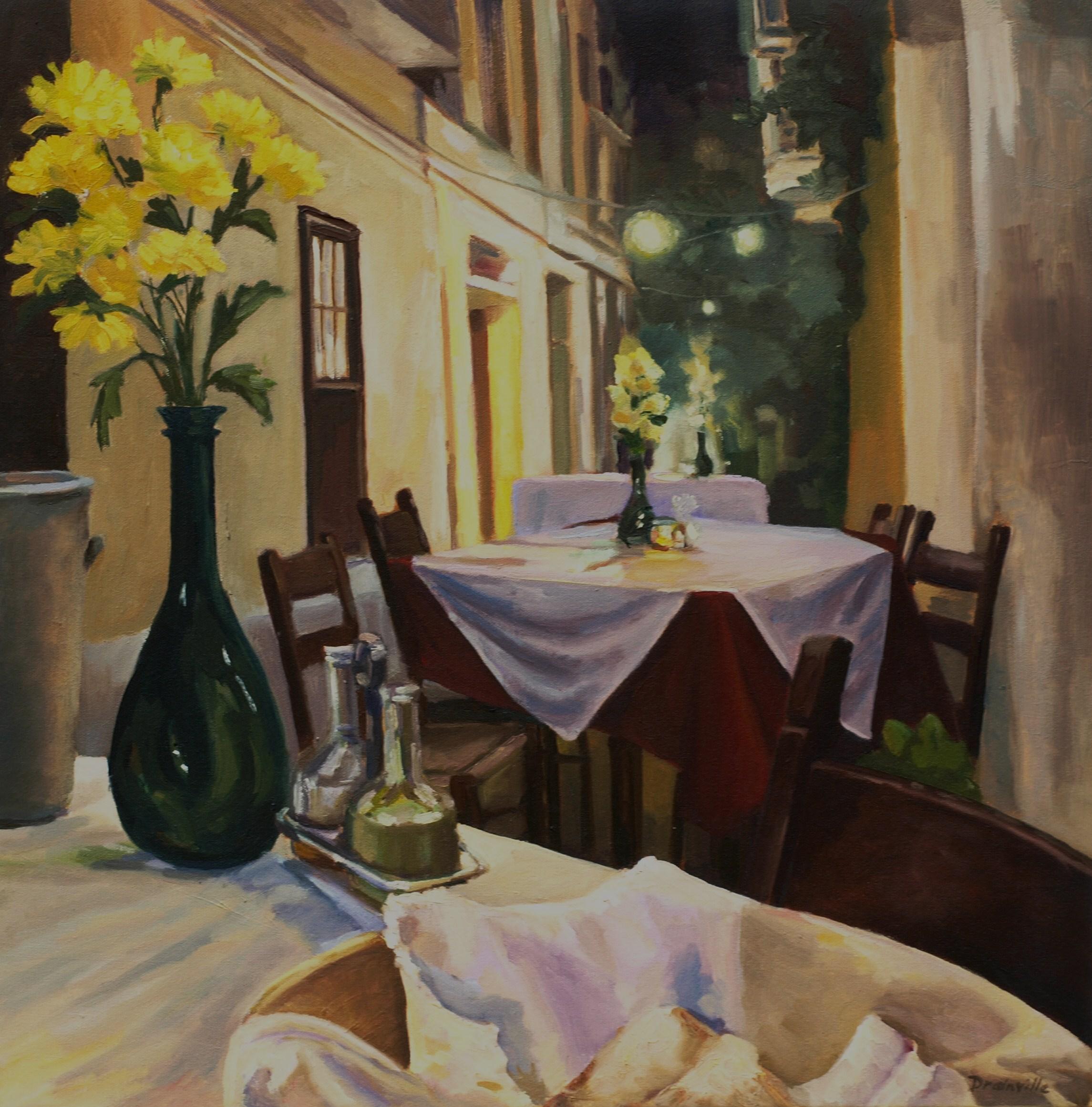 Cretan Taverna oil 20x20