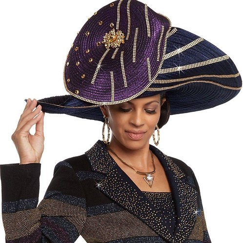 #20 Multi Colors of Purple and blue this Donna Vinci Couture is very elegant.