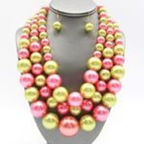 Multicolor pearl set
