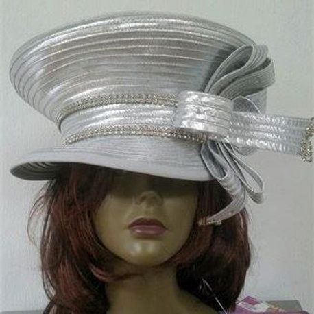 #82 Silver metallic double cap style.