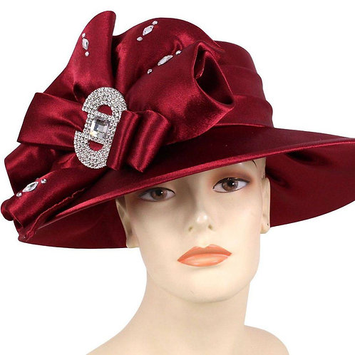 #110 Year round Satin topped with pleated satin bow and ribbons.