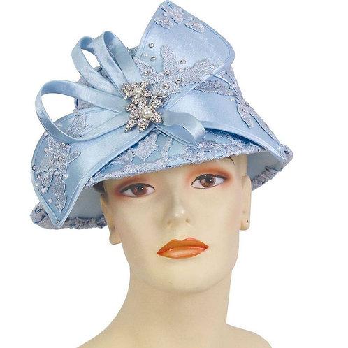 #6 Powder Blue Intricately Embellished Satin Year Round.