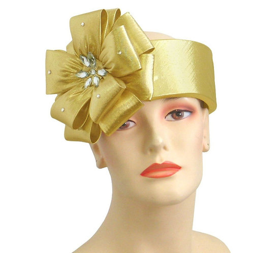 #203 Gold Year Round Ring Halo (open brim) hat band.