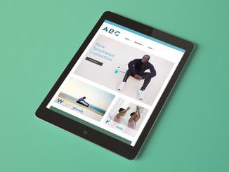 Athletic Design On Tablet