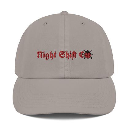 Champion x Night Shift CO Buggin Dad Hat Grey