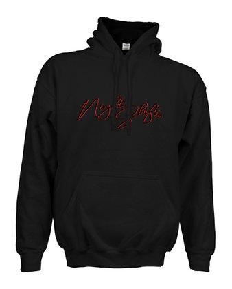 Black Fresh Unisex Heavy-blend Front Logo Hoodie