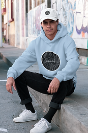 Abstract Arabic Graphic Logo Hoodie