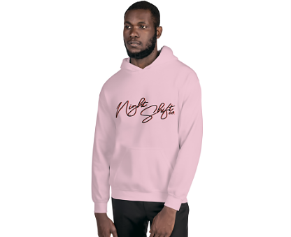 Pink Night Shift Co Culture Hoodie