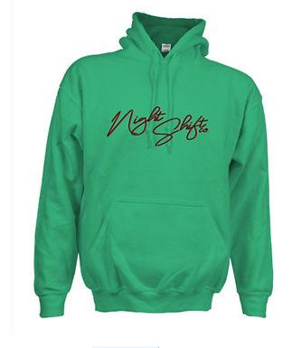 Green Unisex Heavy-blend Front Logo Hoodie